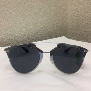 Christian Dior Chrome Sunglasses Silver Black